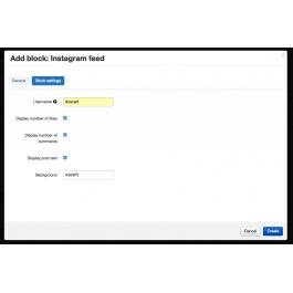 """CS-Cart """"Instagram Feed"""" Add-on"""