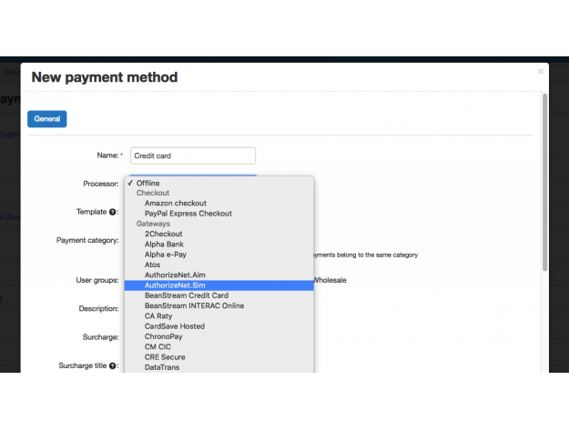 Authorize.Net SIM payment gateway for CS-Cart