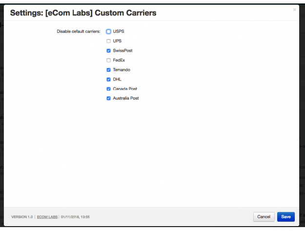 "CS-Cart ""Custom Carriers"" Add-on"