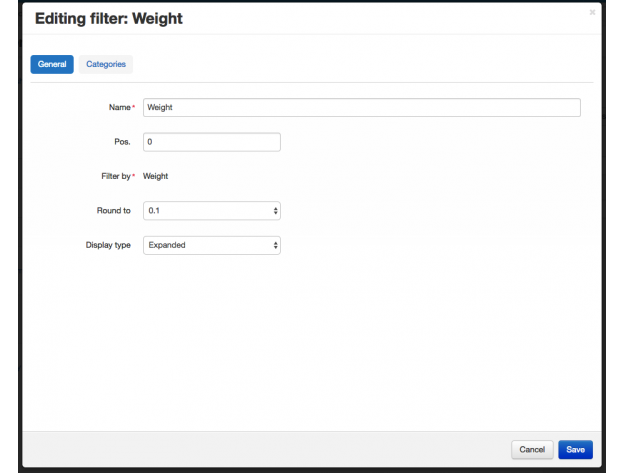 "CS-Cart ""Filter By Weight"" Add-on"