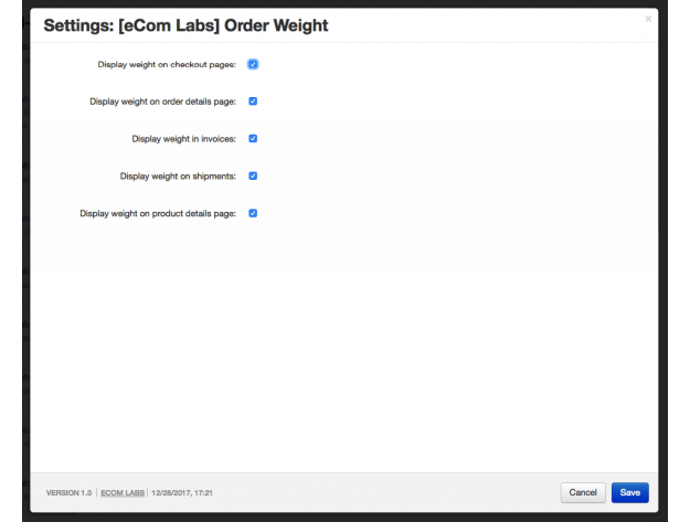 "CS-Cart ""Order Weight"" Add-on"