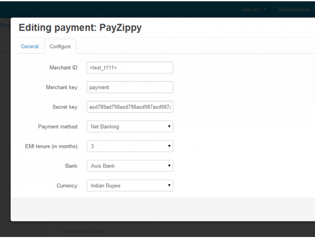 PayZippy Redirect for CS-Cart