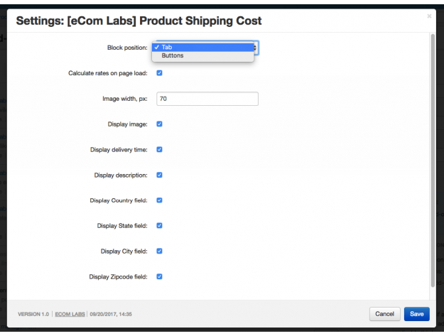 "CS-Cart ""Product Shipping Cost"" Add-on"