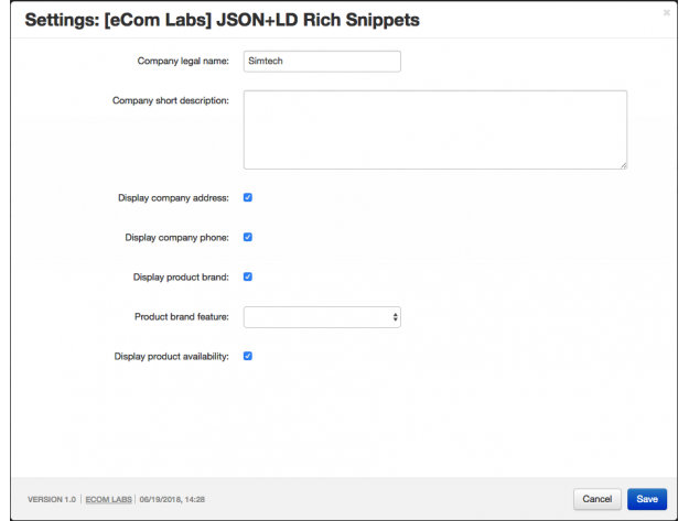 "CS-Cart ""JSON-LD Rich Snippets"" Add-on"