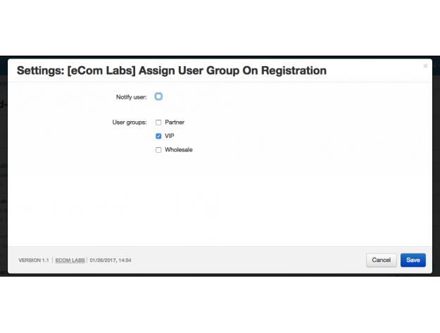 "CS-Cart ""Assign User Group On Registration"" Add-on"