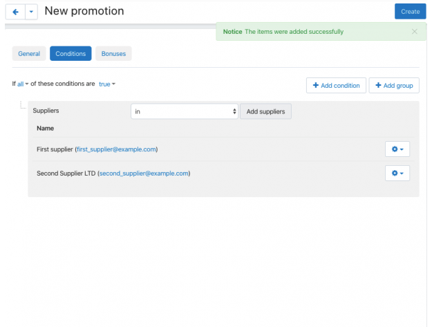"CS-Cart ""Promotions For Suppliers"" Add-on"